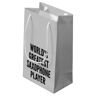 Worlds Greatest Saxophone Player Small Gift Bag