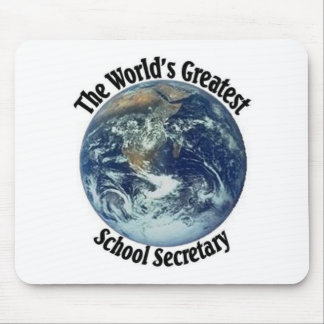 World's Greatest School Secretary Mouse Pad
