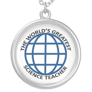 World's Greatest Science Teacher Silver Plated Necklace