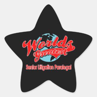 World's Greatest Senior Litigation Paralegal Star Sticker
