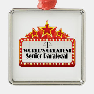World's Greatest Senior Paralegal Ornaments