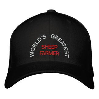 WORLD'S GREATEST, SHEEP FARMER EMBROIDERED BASEBALL CAPS