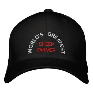WORLD'S GREATEST, SHEEP FARMER EMBROIDERED BASEBALL CAPS