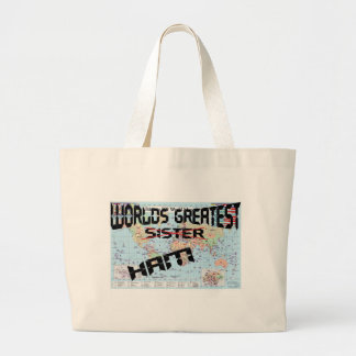 Worlds greatest sister jumbo tote bag