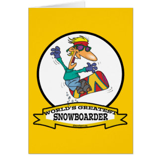 WORLDS GREATEST SNOWBOARDER CARTOON CARD