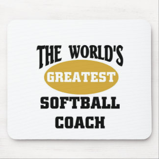 World's greatest softball coach mouse pad