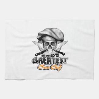 World's Greatest Sous Chef v6 Tea Towel