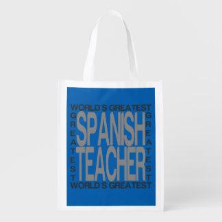 Worlds Greatest Spanish Teacher Reusable Grocery Bag