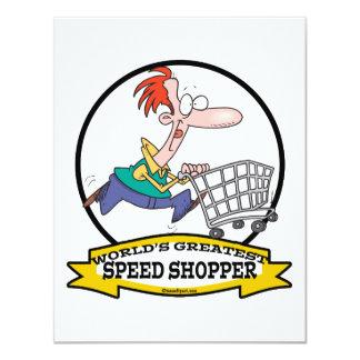 WORLDS GREATEST SPEED SHOPPER MEN CARTOON ANNOUNCEMENT
