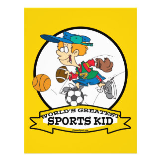 WORLDS GREATEST SPORTS KID CARTOON FULL COLOR FLYER