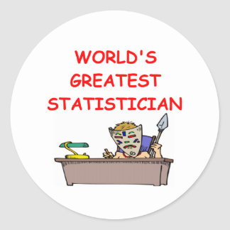 world's greatest statistician classic round sticker