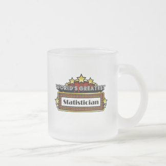 World's Greatest Statistician Frosted Glass Coffee Mug