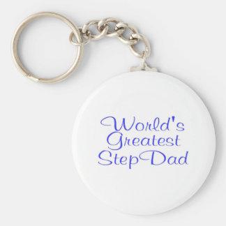 Worlds Greatest Step Dad Basic Round Button Key Ring