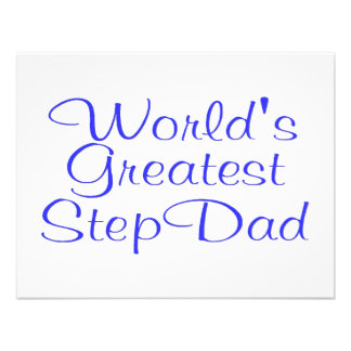 Worlds Greatest Step Dad Personalized Announcement