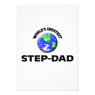 World's Greatest Step-Dad Personalized Invites