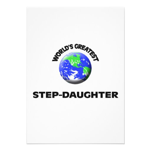 World's Greatest Step-Daughter Custom Announcements