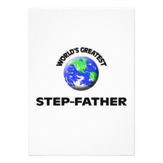World's Greatest Step-Father Custom Announcements