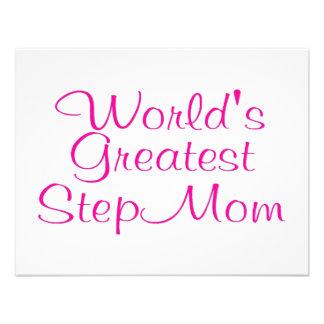 Worlds Greatest Step Mom Custom Invitation
