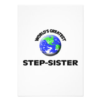 World's Greatest Step-Sister Personalized Invites