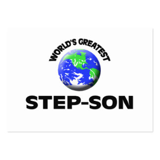 World's Greatest Step-Son Business Card Template