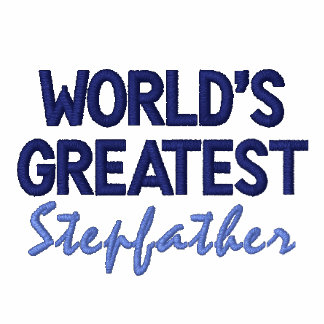 World's Greatest Stepfather Embroidered Polo Shirt