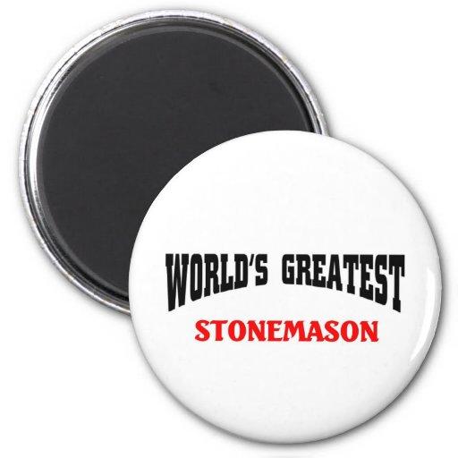World's greatest Stonemason Refrigerator Magnets