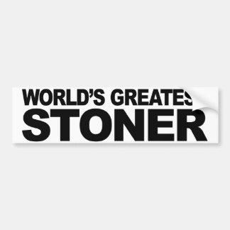 World's Greatest Stoner Bumper Sticker