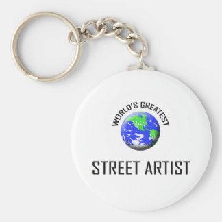 World's Greatest Street Artist Basic Round Button Key Ring