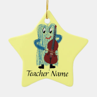 World's Greatest String Teacher! Ceramic Ornament