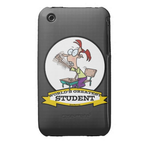 WORLDS GREATEST STUDENT GIRL CARTOON iPhone 3 Case-Mate CASES