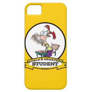 WORLDS GREATEST STUDENT GIRL CARTOON iPhone 5 CASES