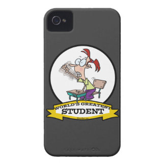 WORLDS GREATEST STUDENT GIRL CARTOON iPhone 4 CASES