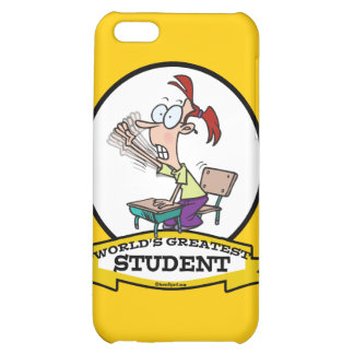 WORLDS GREATEST STUDENT GIRL CARTOON COVER FOR iPhone 5C