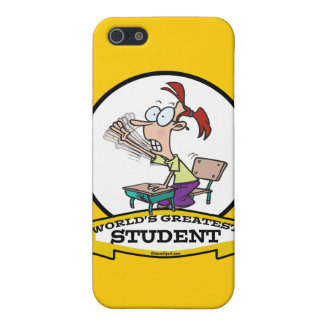 WORLDS GREATEST STUDENT GIRL CARTOON iPhone 5/5S CASE
