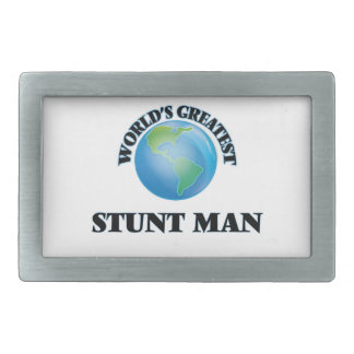World's Greatest Stunt Man Rectangular Belt Buckle