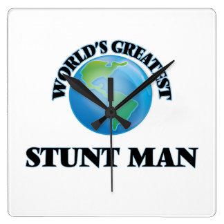 World's Greatest Stunt Man Square Wallclock