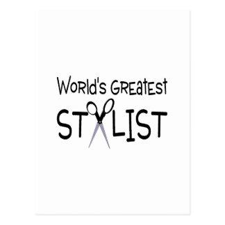 Worlds Greatest Stylist Postcard