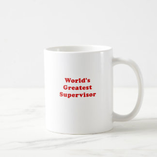 Worlds Greatest Supervisor Coffee Mug