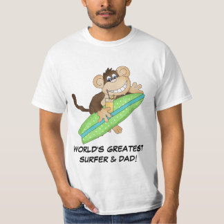 World's Greatest Surfer and Dad t-shirt