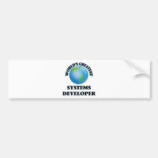 World's Greatest Systems Developer Bumper Stickers