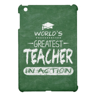 World's Greatest Teacher In Action iPad Mini Cover