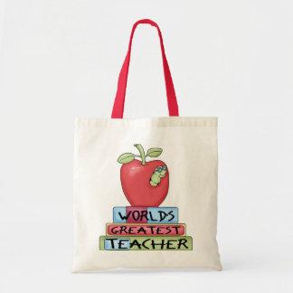 World's Greatest Teacher Canvas Bag