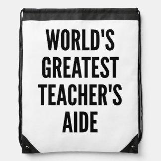 Worlds Greatest Teachers Aide Backpacks