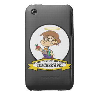 WORLDS GREATEST TEACHERS PET BOY II CARTOON iPhone 3 Case-Mate CASES