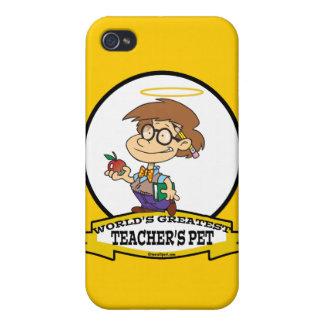WORLDS GREATEST TEACHERS PET BOY II CARTOON iPhone 4/4S COVER