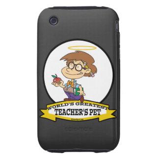 WORLDS GREATEST TEACHERS PET BOY II CARTOON TOUGH iPhone 3 COVERS