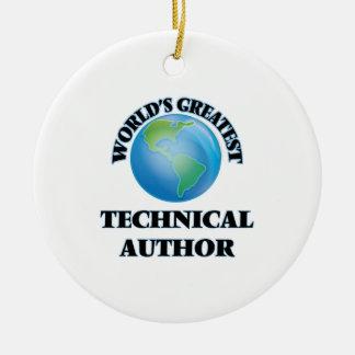 World's Greatest Technical Author Ceramic Ornament