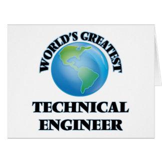 World's Greatest Technical Engineer Card
