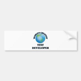 World's Greatest Test Developer Bumper Stickers
