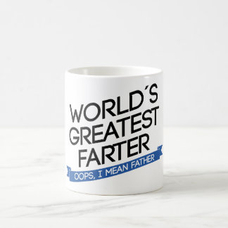 worlds greatest to farter to banner coffee mug